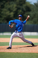 Toronto Blue Jays pitcher Wilfri Aleton (37) during an instructional league game against the Atlanta Braves on September 30, 2015 at the ESPN Wide World of Sports Complex in Orlando, Florida.  (Mike Janes/Four Seam Images)