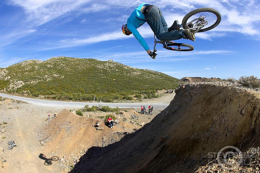 Gee Atherton..Alpujarra region , Spain , April 2007..pic copyright Steve Behr / Stockfile