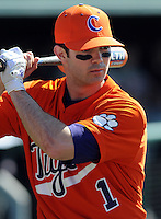 Clemson's J.D. Burgess prior to a game between the Clemson Tigers and Mercer Bears on Feb. 23, 2008, at Doug Kingsmore Stadium in Clemson, S.C. Photo by: Tom Priddy/Four Seam Images