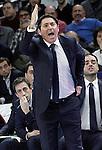 FC Barcelona's coach Xavi Pascual during Euroleague match.February 5,2015. (ALTERPHOTOS/Acero)