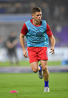 ORLANDO, FL - NOVEMBER 15: Wil Trap #6 of the United States warming up during a game between Canada and USMNT at Exploria Stadium on November 15, 2019 in Orlando, Florida.