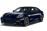 2018 Porsche Panamera Turbo Base 5 Door Hatchback angular front stock photos of front three quarter view