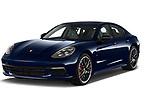 2018 Porsche Panamera Turbo Base 5 Door Hatchback angular front stock photos of front three quarter view