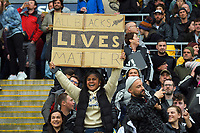 "A fan with a placard stating ""All Blacks Lives Matter"" during the Bledisloe Cup rugby union match between the New Zealand All Blacks and Australia Wallabies at Sky Stadium in Wellington, New Zealand on Saturday, 27 July 2019. Photo: Mike Moran / lintottphoto.co.nz"