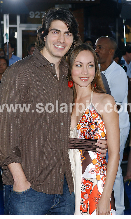 **ALL ROUND PICTURES FROM SOLARPIX.COM**.**WORLDWIDE SYNDICATION RIGHTS EXCLUDING - FRANCE** .Guests arrive at the premiere of the  film, TRANSFORMERS in Westwood, California, USA, at the Village Theater on June 27, 2007..This pic: Brandon Routh and Courtney Ford..JOB REF: 4161   GLS       DATE: 28.06.2007.**MUST CREDIT SOLARPIX.COM OR DOUBLE FEE WILL BE CHARGED* *UNDER NO CIRCUMSTANCES IS THIS IMAGE TO BE REPRODUCED FOR ANY ONLINE EDITION WITHOUT PRIOR PERMISSION*