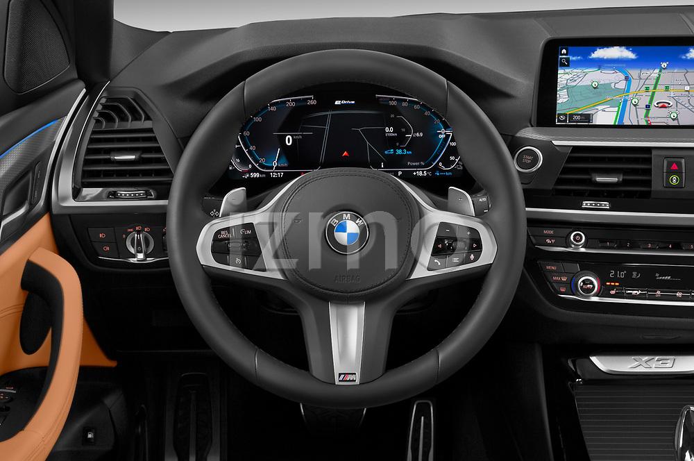 Car pictures of steering wheel view of a 2020 BMW X3 M-Sport 5 Door SUV Steering Wheel