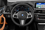 Car pictures of steering wheel view of a 2020 BMW X3 M-Sport 5 Door SUV Steering Wheel