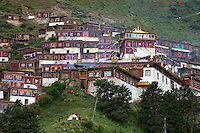 Katok Dorjeden Monastery, first Nyingma Gompa founded in 1159 AD - Kham, (Eastern Tibet), Sichuan Province, China
