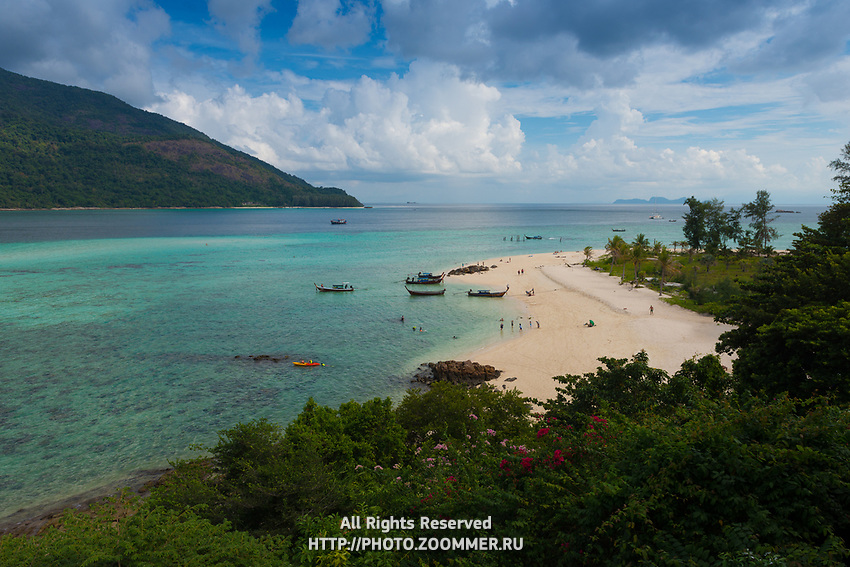 Aerial view of Ko Lipe beautiful Sunrise beach, Bulow beach, thailand