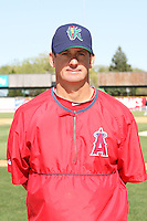 April 17 2010: Manager Bill Mosiello of the Cedar Rapids Kernels at Elfstrom Stadium in Geneva, IL. The Kernels are the Low A affiliate of the Los Angeles Angels. Photo by: Chris Proctor/Four Seam Images