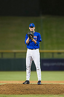 AZL Cubs relief pitcher Rollie Lacy (51) looks to his catcher for the sign against the AZL Mariners on August 4, 2017 at Sloan Park in Mesa, Arizona. AZL Cubs defeated the AZL Mariners 5-3. (Zachary Lucy/Four Seam Images)