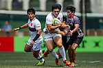 South Korea plays Singapore during the ARFU Asian Rugby 7s Round 1 on August 23, 2014 at the Hong Kong Football Club in Hong Kong, China. Photo by Xaume Olleros / Power Sport Images