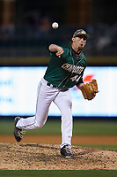Charlotte 49ers relief pitcher Brandon Casas (44) delivers a pitch to the plate against the North Carolina State Wolfpack at BB&T Ballpark on March 29, 2016 in Charlotte, North Carolina. The Wolfpack defeated the 49ers 7-1.  (Brian Westerholt/Four Seam Images)