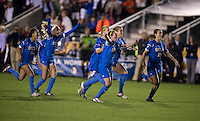 UCLA.  UCLA advanced on penalty kicks after tying Virginia, 1-1, in regulation time at the NCAA Women's College Cup semifinals at WakeMed Soccer Park in Cary, NC.