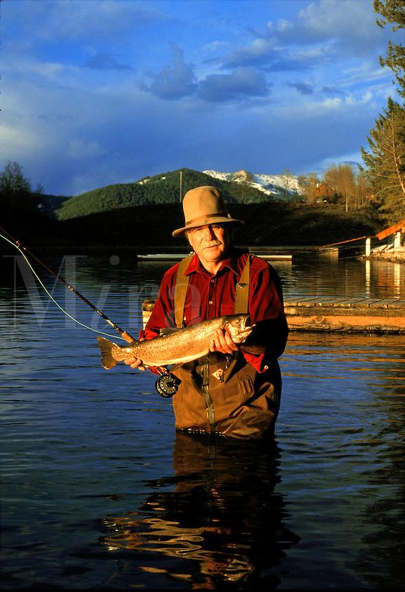 Fresh water trout fishing.