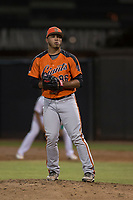 AZL Giants Orange relief pitcher Jorge Labrador (86) prepares to deliver a pitch during an Arizona League game against the AZL Athletics at Lew Wolff Training Complex on June 25, 2018 in Mesa, Arizona. AZL Giants Orange defeated the AZL Athletics 7-5. (Zachary Lucy/Four Seam Images)