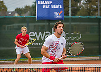 Netherlands, September 27,  2020, Beneden-Leeuwen, TV Lewabo, Competition, Men's premier league, TV Lewabo vs TV Suthwalda, Doubles: Igor Sijsling (NED)  and Jesper de Jong (NED) (L)<br /> Photo: Henk Koster/tennisimages.com