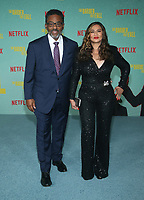 LOS ANGELES, CA - OCTOBER 13: Richard Lee Lawson, Tina Knowles, at the Special Screening Of The Harder They Fall at The Shrine in Los Angeles, California on October 13, 2021. Credit: Faye Sadou/MediaPunch