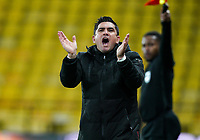 Watford manager Xisco Munoz during the Sky Bet Championship behind closed doors match played without supporters with the town in tier 4 of the government covid-19 restrictions, between Watford and Norwich City at Vicarage Road, Watford, England on 26 December 2020. Photo by Andy Rowland.