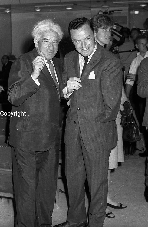 : Meir Weisgal with newly appointed German Ambassador toIsreal<br />   Rolf Paulus<br /> <br /> MARCH1 9 66,<br /> <br />            Photo by [010] Hadani Dan