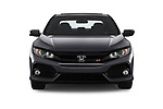 Car photography straight front view of a 2018 Honda Civic Si 5 Door Sedan