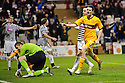 MOTHERWELL'S JAMIE MURPHY CELEBRATES AFTER HE SCORES MOTHERWELL'S THIRD GOAL..07/01/2012 sct_jsp007_motherwell_v_queens_park     .Copyright  Pic : James Stewart.James Stewart Photography 19 Carronlea Drive, Falkirk. FK2 8DN      Vat Reg No. 607 6932 25.Telephone      : +44 (0)1324 570291 .Mobile              : +44 (0)7721 416997.E-mail  :  jim@jspa.co.uk.If you require further information then contact Jim Stewart on any of the numbers above.........