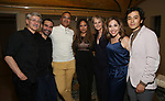 "David Garrison, Javier Munoz, Christopher Jackson, Tracie Toms, Helen Hunt, Andrea Burns and Mateo Ferro attends the Opening Night performance afterparty for ENCORES! Off-Center production of ""Working - A Musical""  at New York City Center on June 26, 2019 in New York City."
