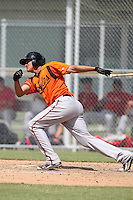 Baltimore Orioles shortstop Manny Machado #39 during an Instructional League game against the Boston Red Sox at Buck O'Neil Complex on October 6, 2011 in Sarasota, Florida.  (Mike Janes/Four Seam Images)