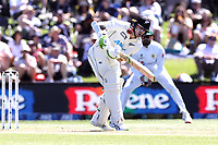 Tom Latham of New Zealand bats during day two of the second International Test Cricket match between the New Zealand and Pakistan at Hagley Oval in Christchurch, New Zealand on Monday, 04 January 2021. Photo: Martin Hunter / lintottphoto.co.nz