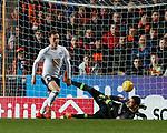 30.11.2018 Dundee Utd v Ayr Utd: Lawrence Shankland scores goal no 2