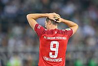 Robert LEWANDOWSKI (M) after a given goalchance, Soccer 1. Bundesliga, 1st matchday, Borussia Monchengladbach (MG) - FC Bayern Munich (M), on 08/13/2021 in Borussia Monchengladbach / Germany. #DFL regulations prohibit any use of photographs as image sequences and / or quasi-video # Â