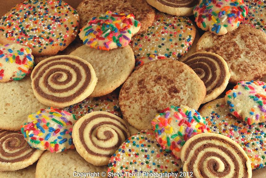 Sugar cookies on plate