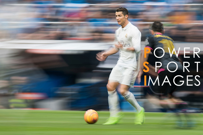 Cristiano Ronaldo of Real Madrid  runs with the ball during the match Real Madrid vs RCD Espanyol, a La Liga match at the Santiago Bernabeu Stadium on 18 February 2017 in Madrid, Spain. Photo by Diego Gonzalez Souto / Power Sport Images