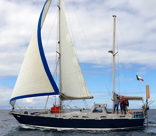 The 43ft 1993-built Bruce Roberts steel ketch Danu was given a very complete refit by Peter Owens and Vera Quinlan before their award-winning family cruise of the Atlantic circuit