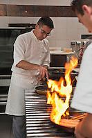 Europe/France/Bretagne/56/Morbihan/Port-Louis: Restaurant: Avel-Vor - Patrice Gahinet en cuisine [Non destiné à un usage publicitaire - Not intended for an advertising use]