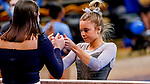 February 19, 2021: North Carolina's Elizabeth before competing on the beam during the 2nd Annual George McGinty Alumni Meet at the SECU Arena at Towson University in Towson, Maryland. Scott Serio/Eclipse Sportswire/CSM