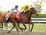 16 April 2010.  Haka and Garrett Gomez win the 16th running of the Doubledogdare (GRIII) at Keeneland Racecourse.
