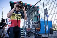 Belgian Champion TIm Merlier (BEL/Corendon Circus) pre race<br /> <br /> Antwerp Port Epic 2019 <br /> One Day Race: Antwerp > Antwerp 187km<br /> <br /> ©kramon