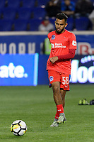 Harrison, NJ - Thursday March 01, 2018: Jorge Álvarez. The New York Red Bulls defeated C.D. Olimpia 2-0 (3-1 on aggregate) during a 2018 CONCACAF Champions League Round of 16 match at Red Bull Arena.