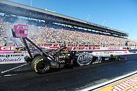 Oct. 29, 2011; Las Vegas, NV, USA: NHRA top fuel dragster driver Larry Dixon during qualifying for the Big O Tires Nationals at The Strip at Las Vegas Motor Speedway. Mandatory Credit: Mark J. Rebilas-