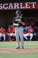 University of Cincinnati Bearcats outfielder Justin Glass (16) during a game against the Rutgers University Scarlet Knights at Bainton Field on April 19, 2014 in Piscataway, New Jersey. Rutgers defeated Cincinnati 4-1.  (Tomasso DeRosa/ Four Seam Images)