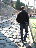 One of the roads of Ancient Rome which is still in use today.