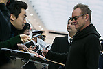 Chiba, Japan - British singer-songwriter Sting (Gordon Matthew Thomas Sumner) signs autographs for fans upon his arrival at Narita International Airport in Chiba, Japan on November 27, 2016. Sting is in Japan to promote his twelfth solo studio album 57th & 9th. (Photo by AFLO)