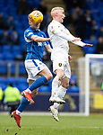 St Johnstone v Livingston…..07.03.20   McDiarmid Park  SPFL<br />Ally McCann and Craig Sibbald<br />Picture by Graeme Hart.<br />Copyright Perthshire Picture Agency<br />Tel: 01738 623350  Mobile: 07990 594431