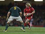 Wales hooker Richard Hibbard takes on Springbok lock Flip Van Der Merwe<br /> <br /> 2013 Dove Men Series<br /> Wales v South Africa<br /> Millennium Stadium<br /> 09.11.13<br /> ©Steve Pope-Sportingwales
