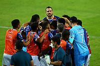 16th November 2020; Couto Pereira Stadium, Curitiba, Brazil; Brazilian Serie A, Coritiba versus Bahia; Players do Bahia celebrates the scored goal by Zeca in the 72th minute 1-2