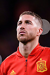 Sergio Ramos of Spain getting into the field during the International Friendly 2018 match between Spain and Argentina at Wanda Metropolitano Stadium on 27 March 2018 in Madrid, Spain. Photo by Diego Souto / Power Sport Images