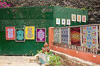 Artwork on Display, Biannual Arts Festival, Goree Island, Senegal.