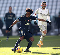 Calcio, Serie A: Juventus - Bologna, Turin, Allianz Stadium, January 24, 2021.<br /> Juventus' Juan Cuadrado in action during the Italian Serie A football match between Juventus and Bologna at the Allianz stadium in Turin, January 24, 2021.<br /> UPDATE IMAGES PRESS/Isabella Bonotto
