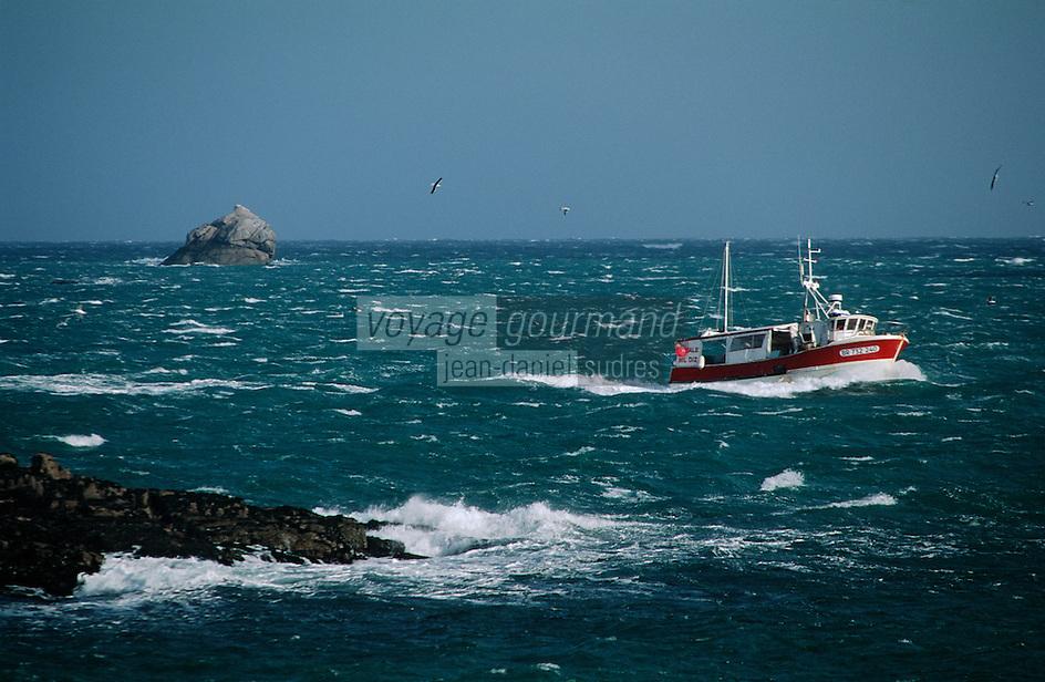 Europe/France/Bretagne/29/Finistère/Ile d'Ouessant: bâteau de pêche
